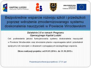 Prezentacja konferencja projektowa